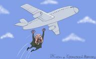 Відомий художник відреагував карикатурою на події із перехопленням літака над Білоруссю. ФОТО