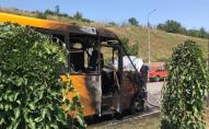 Під час руху загорілася маршрутка з пасажирами. ФОТО