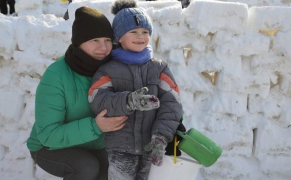 Ковельчани спорудили снігове містечко. ФОТО